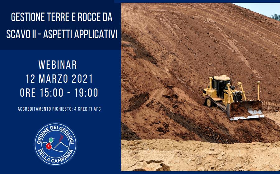 Webinar II Incontro – DPR 120/2017 Terre e Rocce da scavo